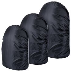 Outus 3 Pieces Backpack Rain Cover Waterproof Bag Covers Set with 3 Sizes 30-40 L, 55-65 L and 75-85 L for Hiking, Camping, Climbing, Cycling (Black). Quantity and capacity: this set includes 3 pieces of backpack rain covers of 3 sizes (30-40 L, 55-65 L and 75-85 L), can cover different backpack sizes. Great durability: made from high-density wear-resisting nylon fabric, resistant to tear and scratch; Reinforced rim features elastic, durable to use. Waterproof protection: made from…