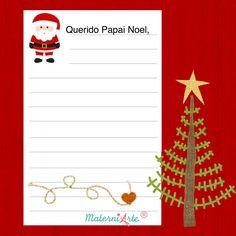 Etiquetas e Carta Papai Noel para impressão Advent Calendar, Holiday Decor, Christmas, Cards, Meaning Of Colors, Ballerina Birthday, Christmas Projects, Xmas Presents, Christmas Things