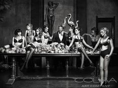 MEN'S ALLURE Black and White Photography Best Seller New Collection Cobra Art Company Photographic art on plexiglas