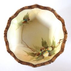Hand Painted Acorn Bowl by TheOldPittsHomestead on Etsy