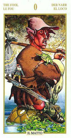 The Fool - Tarot of the Hidden Folk - If you love Tarot, visit me at www.WhiteRabbitTarot.com