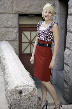 The Skirt Shoppe — Pencil Skirt - Crimson Red  Love this skirt! Just might have to get one for graduation!