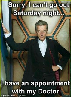 Got a date with @DoctorWho_BBCA tonight! #DoctorWho