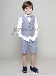 Tuxedo Wedding Suit, Boys Wedding Suits, Wedding Page Boys, Wedding With Kids, Boys Occasion Wear, Boys Short Suit, Kids Formal Wear, Short Niña, Formal Shorts