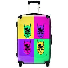iKase Batman Pop Art 24-inch Fashion Hardside Spinner Upright Suitcase
