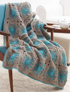 Yarnspirations.com - Bernat Starburst Blanket - Patterns  | Yarnspirations