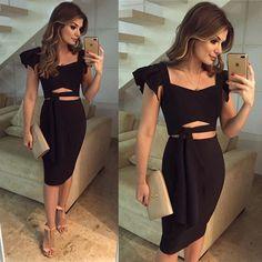 {Black✨} Conjunto @the_dresscode_ Todo preto de saia midi com cropped ♥️ Já disponível online na loja!! Confiram o site porque tem muita coisa linda ... - Blog Trend Alert (@arianecanovas)