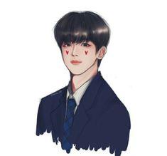 Kpop Drawings, Tumblr Stickers, Kpop Fanart, Boyfriend Material, Kim Dong, Love My Boys, Good Notes, Art Inspo, Chibi