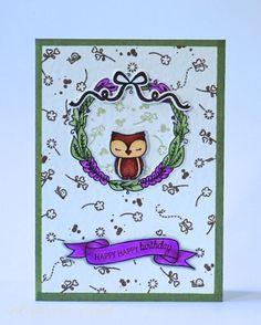 Mama Elephant Charmed Birthday Card