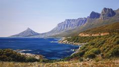 Painting of the Twelve Apostles and Lions Head Cape Town Seascape Paintings, Landscape Paintings, Countries Around The World, Around The Worlds, Lions Head Cape Town, South Afrika, African Paintings, South African Artists, Andrew Cooper