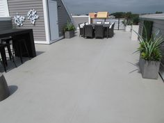 Big or small Duradek covers them all like this roof top terrace at Admiral Square in Annapolis, MD.  Courtesy of Select Construction and Brookfield Residential