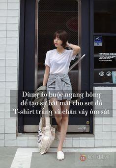 """13 cách mặc siêu mới và tiện cùng chiếc T-shirt trắng """"kinh điển"""" - Kenh14.vn"""