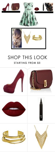 """""""Going Bold and Fancy"""" by cielofashion237 on Polyvore featuring Giuseppe Zanotti, Marc Jacobs, Lime Crime, Elizabeth and James, DayToNight, burgundy and skaterdress"""