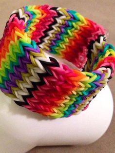Rain bow loom bracelets and this is kinda hard buT iTs awesome