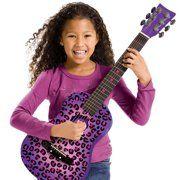 First Act Fg3715 Purple Cheetah Acoustic Guitar Walmart Com Acoustic Guitar Guitar Acoustic