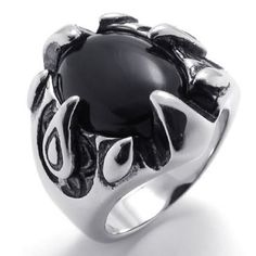 KONOV Jewelry Classic Stainless Steel Gothic Dragon Claw Biker Men's Ring, Color Black Silver – Size 11 (with Gift Bag)  http://bikeraa.com/konov-jewelry-classic-stainless-steel-gothic-dragon-claw-biker-mens-ring-color-black-silver-size-11-with-gift-bag/
