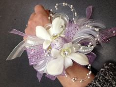 Prom or in this case wedding shower wrist corsage....Flowers of Charlotte loves this!  Visit us at flowersofcharlotte.com