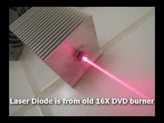 Powerful Homemade Burning Laser Built From Computer Parts - YouTube