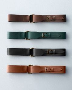 Garnet Hill - Eloisa Wide Leather Belt
