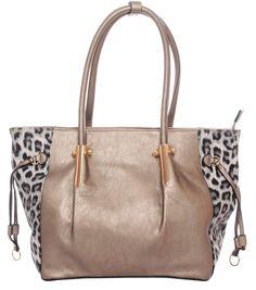 Silver/Leopard Print~Leatherette~Tote Bag~Handbag~Satchel~Purse~Rockabilly~Punk #Unbranded #SatchelToteBag
