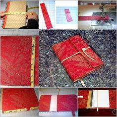 DIY : Journal Cover with Spiral-bound Notebook
