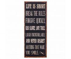 Dekorácia Life is Short Height
