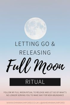 After so many of you loved my new moon ritual post a few months ago, I thought it was only right that I also shared with you my full moon ritual. Today June is a full moon and this is the perfect day to let it all go! The full moon signifies a … New Moon Rituals, Full Moon Ritual, Wish Spell, Moon Circle, Let It All Go, Visualisation, Guided Meditation, Inner Peace, Law Of Attraction