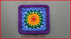 Free crochet pattern: Soul Shine Granny Square with video tutorial by YARNutopia