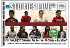 massmouth - the living art of storytelling in Massachusetts @StoriesLive high school story slams