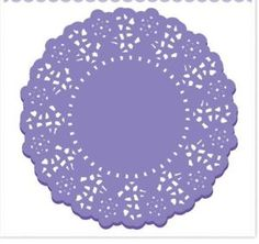 20pc 4 5 in Doodlebug Paper Lace Doilies Lilac Paper Crafts Weddings | eBay