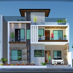 Modern Exterior House Designs, Latest House Designs, Modern Architecture House, Modern House Design, Exterior Design, House Outer Design, House Outside Design, House Front Design, Design Your Dream House
