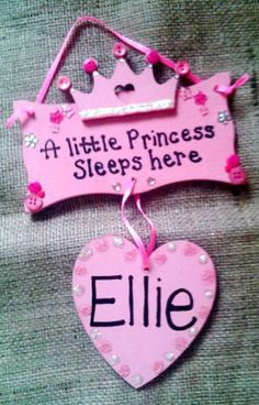 Created by us(crafty hands) to add to any little princess room