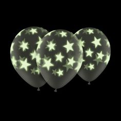 """Check out this Glow In The Dark 11"""" Star Balloons (5 Pack)"""