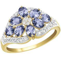 Tanzanite & Diamond Bouquet Ring