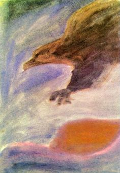 Waldorf ~ 4th grade ~ Human & Animal ~ Eagle ~ watercolor painting