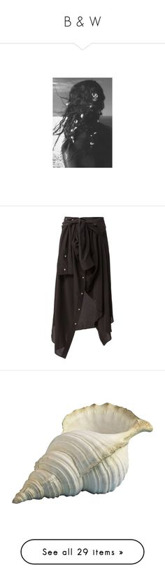 """""""B & W"""" by beeanchorr ❤ liked on Polyvore featuring hair, pictures, skirts, bottoms, black, faith connexion, silk skirt, tie-dye skirt, faith connexion skirt and home"""