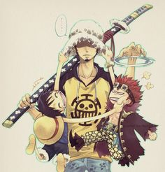 Law, Kid and Luffy