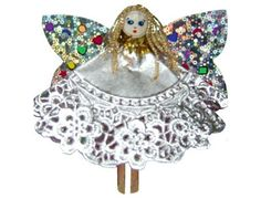 Tutorial on How to Make Peg Doll Angels with Doilies