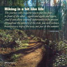 Hiking is like life
