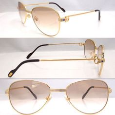 3496c6ea2b2 2011 Cheap Cartier 1156496 Sunglasses in Gold with Gray lens