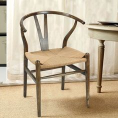 baxton studio brown wood dining chair with hemp seat furniture pinterest dining chairs woods and room
