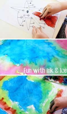 Creating Art with Ink and Food Coloring