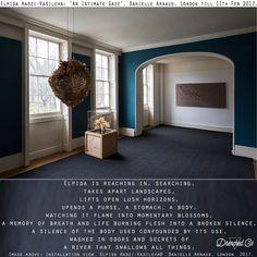 Exhibition Review -  Elpida Hadzi-Vasileva: 'An Intimate Gaze', Danielle Arnaud, London till 11th Feb 2017.   See http://daniellearnaud.com/exhibitions/exhibition-elpida-an-intimate-gaze.html  Caption: Image above: Installation view  Elpida Hadzi-Vasileva©  Danielle Arnaud, London  2017. Image courtesy of Danielle Arnaud, London. Photo: Oskar Proctor  #cutsoverart #drenchedco #soakedspace