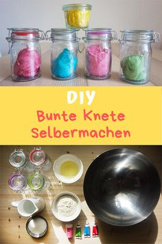 Do it yourself: You can easily make colorful modeling clay yourself. Ideal for bast … - Spielzeug Hobbies For Women, Hobbies To Try, Prayer Rug, Hand Sanitizer, Step By Step Instructions, Pin Collection, Handicraft, Easy Diy, About Me Blog