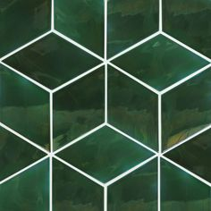 Sleek and sophisticated, these ceramic wall tiles are completely made by hand at our studio. Buy dark and luminous large green diamond tiles at Mercury Mosaics. Dark Green Bathrooms, Green Bathroom Tiles, Green Tiles, Dark Green Kitchen, Green Pictures, Wall Pictures, Revit, Elevation Drawing, Diy Bathroom Decor