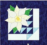 """Download and print """"Picture Perfect Poinsettias,"""" a free Quilters Newsletter web-exclusive quilt pattern for a table runner or wall hanging."""