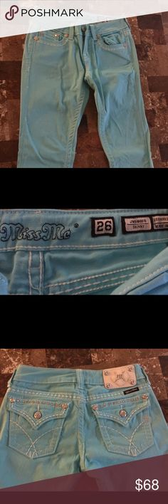 Miss Me colored jeans Miss me colored jeans worn twice reflect condition Miss Me Pants Skinny
