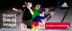 Teraz z Adidas możesz stworzyć swój i swojej drużyny niepowtarzalny wizerunek. Żadna inna marka nie udostępnia narzędzia, które pozwala na zaprojektowanie własnej koszuli, spodenek czy dresu!  Do ubrań mozesz także dopasować sprzęt tenisowy i akcesoria wybierając z oferty dostępnych już na polskim rynku najnowszych serii stołów, rakietek, piłeczek, pokrowców oraz toreb marki Adidas Table Tennis! www.sklepfitness.com/c/37/tenis-stolowy-.html