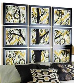 Going to do this with some changes for baby's room... Framed Fabric Headboard: fabric & no sew: Shop   Joann.com