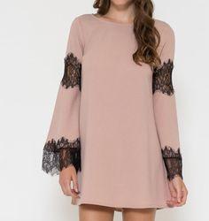 cross my heart bell sleeve boho shift dress